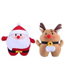 Red Multi-functional Santa Claus Snowman Doll Warm Hands Pillow Cushions Plush Toys Gift Christmas Decoration For Home Bed Car