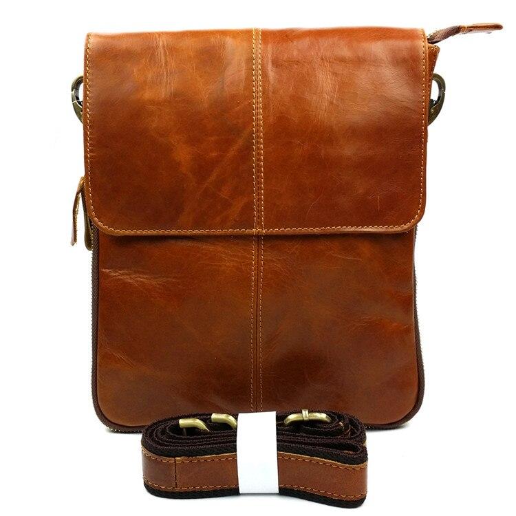 Hot sale men bag cowhide genuine leather men messenger bag casual bag fashion mens leather shoulder crossbody bags High quality<br>