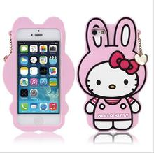 Cartoon Hello Kitty Case For Funda iPhone 6 6S Case Luxury Silicone Capinha Cute Rabbit Coque For Capa Para iPhone 6 Plus Cases(China)