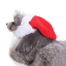 Red Pet Cat Dog Christmas Costume Hats Warm Winter Hat For Dog Pet Santa Claus Costume Hat Grooming Accessories Xmas Gift EY11(China)