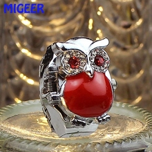 MIGEER 2017 Fashion HOT New Hot Creative Fashion Retro Owl Finger Watch Clamshell Ring Watch gift drop ship june 5 P30