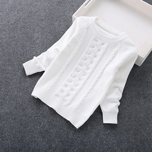 2016 new fashion girls' sweaters cotton 3-14 years children clothing cotton kids sweater 6013