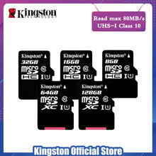 Kingston Class 10 Micro SD карта 16 ГБ 32 ГБ Гб MicroSDHC карта ГБ памяти 8 Гб Class 4 Micro SD карта UHS-I TF карта MicroSD 64 ГБ MicroSDXC(China)