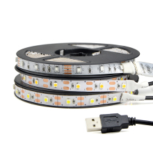 1Pcs DC5V USB Cable Power LED Strip Light 50CM 1M 2M 3M 4M 5M SMD 3528 Desk Decor Lamp Tape For TV Background Lighting