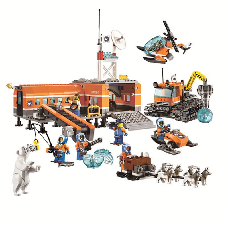 783Pcs 60035 City Arctic Base Camp Model Buildinlg Kits Enlighten Blocks Toys The Arctic Outpost Bricks Toy For Birthday Gift<br><br>Aliexpress