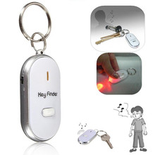 car keychain Hot Sale High Quality 1pc Led Finder Locator Find Lost Keys Chain Keychain Whistle Sound Contro Holder Rings men(China)