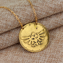 Fashion Design Simple Necklace The Legend of Zelda movie Logo Necklace Golden Pendants Marvel Women Men Gift Jewelry Necklace