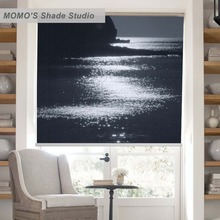 MOMO Blackout Window Curtains Roller Shades Blinds Thermal Insulated Fabric Custom Scenic ,PRB set199-203