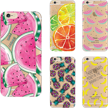 5C Soft TPU Cover For Apple iPhone 5C Case Cases Phone Shell Painted Clear High Quality Cool Summer Fruit Popular !!