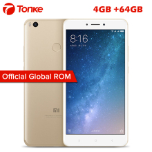 "Original Xiaom Mi Max2 Max 2 4GB RAM 64GB ROM 5300 mAh Snapdragon 625 Octa Core 6.44"" FHD 12MP IMX386 Mobile Phone"
