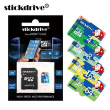 Stick Drive Merry Christmas Memory card 8gb 16gb 32gb 64gb 128gb TF Card class 6-class 10 micro sd card with adapter(China)