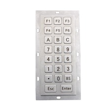 Stainless steel keyboard Numeric keypad Metal Kiosk Keyboards matrix keypads