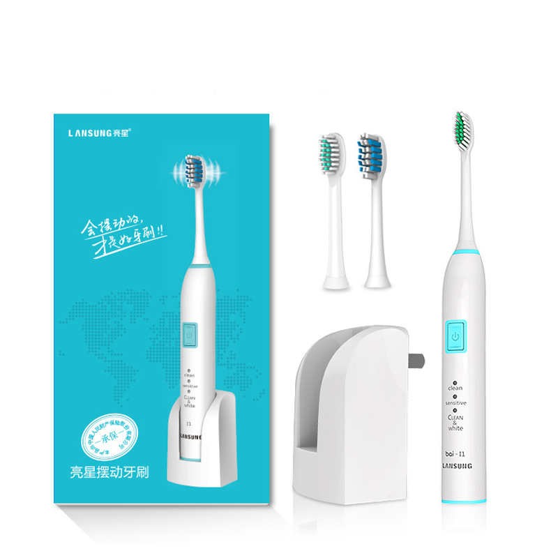 LANSUNG I1  Electric Toothbrush Adult Toothbrush Ultrasonic Sonic Toothbrush Rechargeable Electric Tooth Brush 4 Brush Head<br>