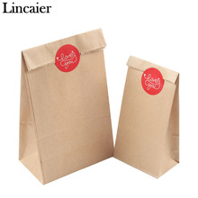 Lincaier 6 Pcs I Love You Kraft Paper Bag Stickers Birthday Engagement Wedding Favors Gifts For Guests Bread Candy Cookie Bags