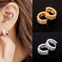 2017 Direct Selling Sale Zinc Alloy Brincos Korean And Plated Crystal Stud Earrings Fashion Jewelry For Women Free Shipping