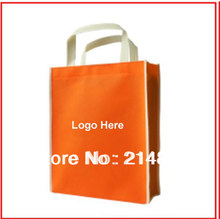 (1000pcs/lot) size 30x36x9cm eco friendly polypropylene PP non woven reusable shopping bags with logo