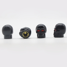 * DSYCAR 4Pcs/lot  Skull Moto Bicycle Car Tires Wheel Valve Cap Dust Cover car styling for bmw ford lada toyota honda opel mazda