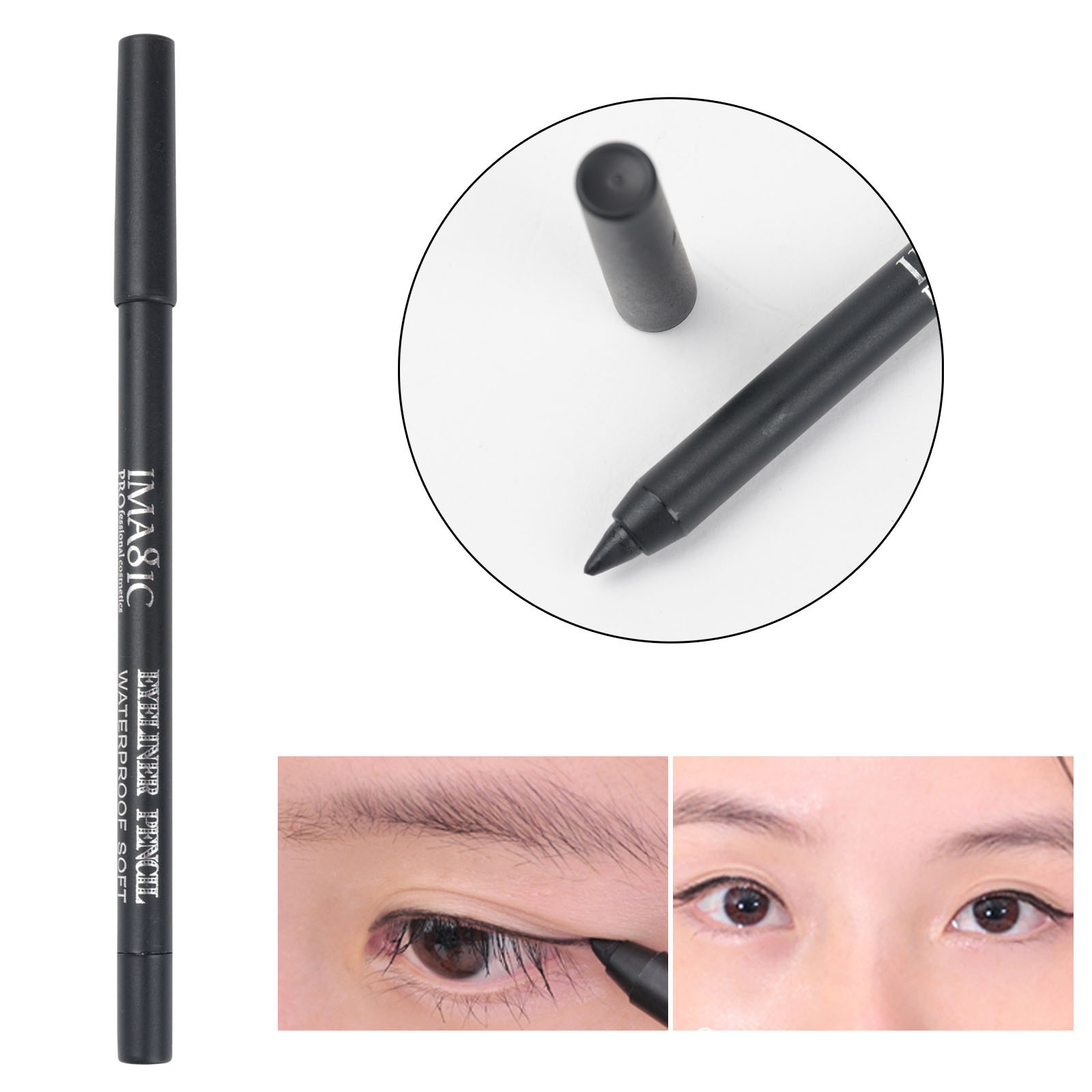 Shellhard 1pc Professional Waterproof Magic Eyeliner Shining Smudger Pencil for Eyes Make up Tool