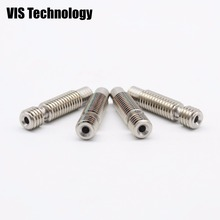 5pcs/lot M6*26 V6/V5 Stainless steel Nozzle Throat Feeding Tube Throat for 1.75mm filament NO Teflon Ptfe Tube