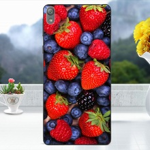 Cover Case for Sony Xperia E5 Shell Softlyfit Embossed TPU Phone Cases for Sony Xperia E5 Mobile Phone Bag Fundas - Fresh Grapes