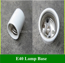 Lighting Accessories E40 Ceramic Lamp Base Street / photography Bulbs Light Holder Socket 50PCS(China)