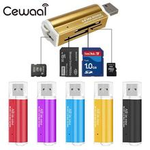 CEWAAL Card Reader Adapter All In One Multifunction Memory High Speed USB2.0 SD/TF/MS/MMC(China)
