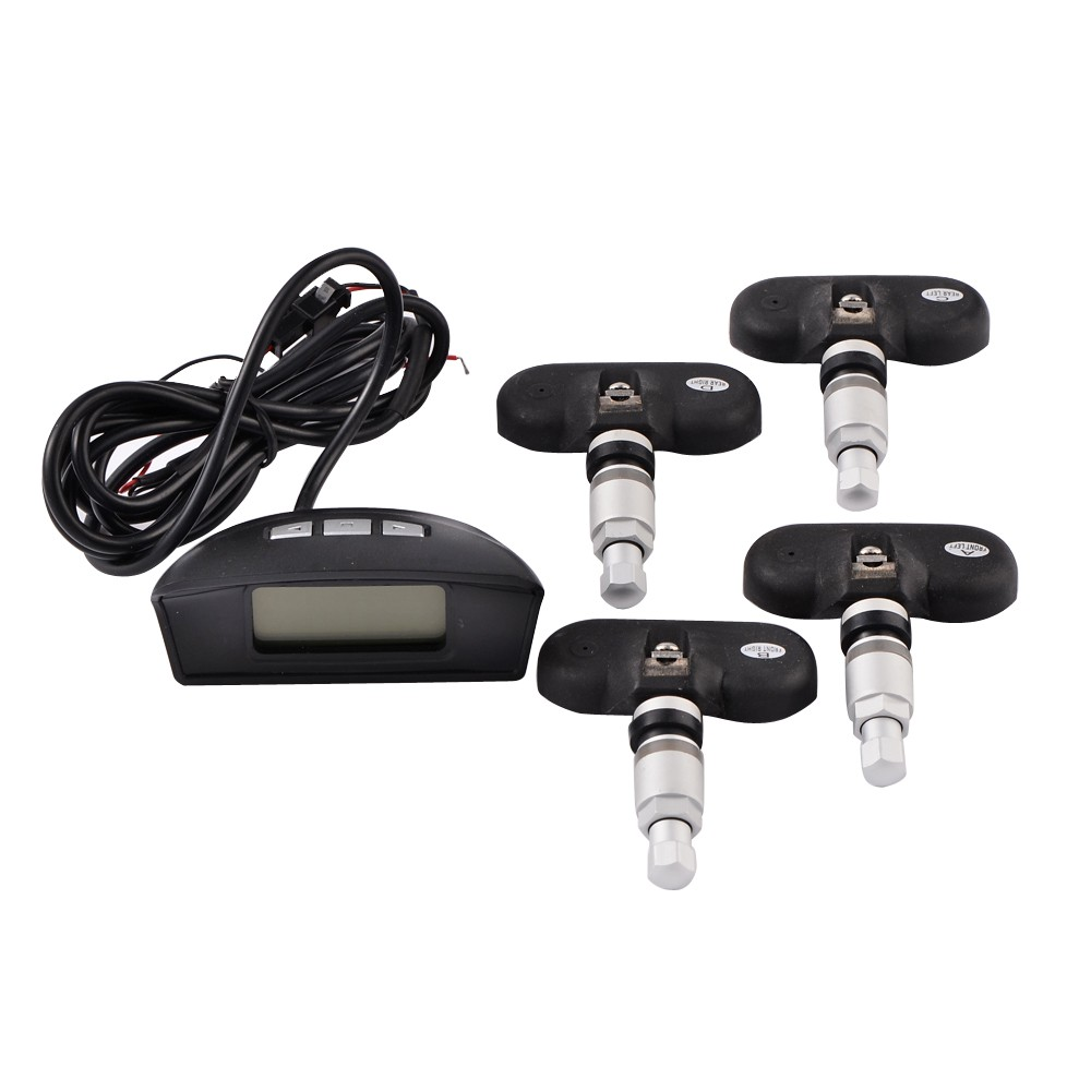 Car TPMS Transmitter Tire Tyre Pressure Tire Pressure Monitoring System 4 Sensors LCD Display<br><br>Aliexpress