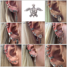 Buy 18 Types Retro Turtle Leaf Ear Piercing Helix Piercing Tragus Fake Nose Ring Star Studs Faux Piercing Oreille Body Jewelry Lot for $1.14 in AliExpress store