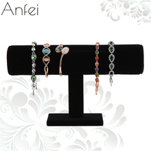 Velvet Bracelet Organizer Rack Bracelet Display Shelf Jewelry organizer Jewelry display Velvet Stand Storage Of Ornaments A64-1(China)