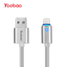 Yoobao YB-408 USB Lightning Cable 3ft(1m) Super Durable Nylon Braided Syncing and Data Charging Cable Cord for iPhone 7 6 Plus(China)
