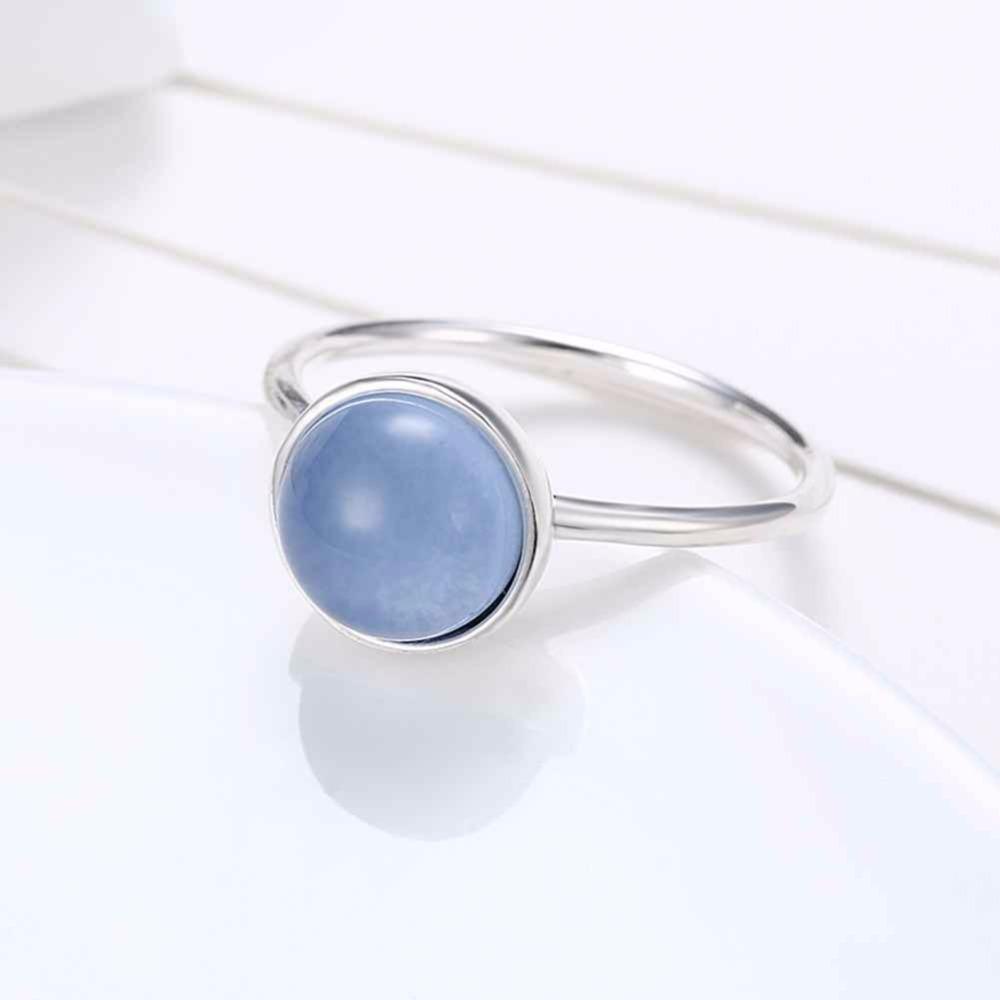 خاتم فضة بحجر ازرق 2
