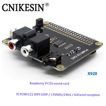 CNIKESIN Raspberry Pi Extended Board Sound Card TI HiFi Stereo DAC Chip PCM5122