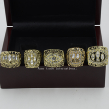 Wooden Box With Replica Replica Super Bowl 5 Years 1981/1984/1988/1989/1994 San Francisco 49ers Championship Ring Set Size 11(China)