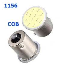 10PCS/Lot 1156 COB LED Reverse Lights, 12Chip Bulbs BA15S Car Rear Light Wholesale P21W Parking Lights 12v(China)