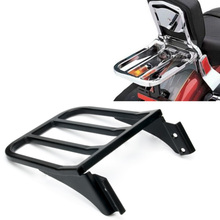 High Quality Steel :Black Motorcycle Sport Sissy Bar Backrest Luggage Rack For Harley Sportster XL 04-17 Softail 84-05 FLST FLS(China)