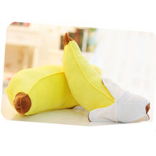 Creative Plush Banana Toys Pillow 45cm and 70cm New Soft Novelty Simulation Yellow Fruits Plush Stuffed Pillow Cushion HT3748