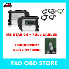 High quality Mb Star C4 SD Connetct with HDD 03/2017 version Latest mb star c4 Free Xentry DAS EPC WIS Developer diagnoist-tools