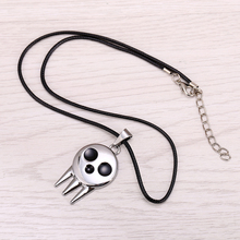12pcs/lot Hot Anime Soul Eater Metal Necklace the Kid's Collar Skull Logo Pendant Cosplay Accessories Jewelry(China)