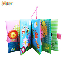 ChildrenTail Cloth Book for baby toys animal soft Kids Early Learning Education Toys Newborn Baby 0-36 month reading Cloth Books