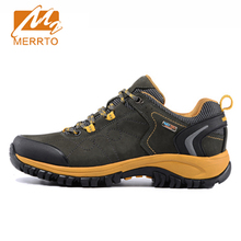 2018 Merrto Men Walking Shoes M2-TEC Waterproof Breathable Outdoor Sports Shoes Full-grain leather For Male Free Shipping 18209(China)