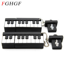 FGHGF piano USB Flash Drive Fashion music pendrive music pen drives 8GB 16GB 32GB music instrument usb disk free shipping(China)