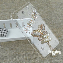 Luxury Butterflies Smartphone Cover Case for HTC Desire 816 Hot Selling Diamond Shinny Hard PC Celular Shell for HTC Desire 816