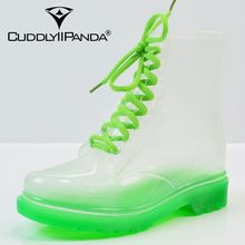 2017 New Arrival 14 Colors Transparent Rain Boots Women Waterproof Martin Boots Water Jelly Shoes Botas Feminina Zapatos Mujer