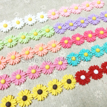 50pcs Mixed Colors Flat Back Resin Embellishments Cute Daisy FLOWERS Scrapbooking DIY Crafts Hair Ornaments Bows Centerpieces