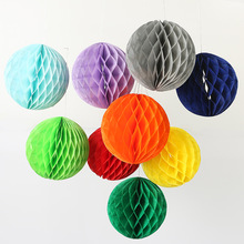 "6""(15cm) Decorative Wedding Tissue Paper Honeycomb Balls Flower Pastel Birthday Baby Shower Wedding Holiday Party Decorations"