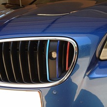 200*5mm PVC Waterproof Three Colors Car Sticker For The Grill For BMW 1 Series And For BMW 3 Series M1 M3 M5