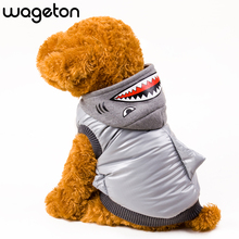 New Hot WAGETON Fashion Dog Clothes SHARK Warm Coat Wholesale And Retail Pet Puppy Cat Warm Apparel -Halloween Costume(China)