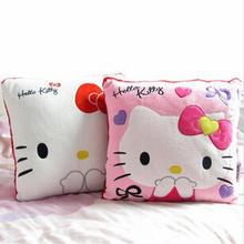 1Pc 35*35CM Super Kawaii Hello Kitty Pillows Soft Back Cushion Stuffed Plush Toys Good Quality Special Offer Girl's Toy(China)