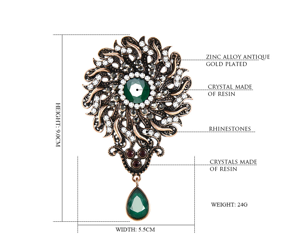 flower-vintage-brooch-statment-green-color-with-pendant_01
