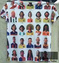 Track Ship + Summer Fresh Top Tee T-shirt My Favorite Foot Ball Player Zidane Maradona Ronaldo Bajo 0282(Hong Kong)